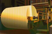 製紙工場の写真